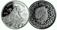 "1 oz Silber Proof-Like Ghana "" Leopard 2018 "" Scottsdale Mint in Kapsel - max 8.500 Stk ( diff.besteuert nach §25a UStG )"