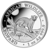 1 oz Silber Somalia Leopard 2021 - max 30.000 ( diff.besteuert nach §25a UStG )