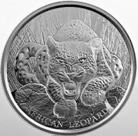 "1 oz Silber Ghana "" Leopard 2017 in Kapsel - Scottsdale Mint ( diff.besteuert nach §25a UStG )"