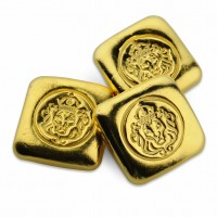 1 oz Gold Scottsdale Mint Lion handstamped Gold Bar ( 1 oz Barren USA )