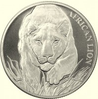 "1 oz Silber Chad "" African Lion 2017 "" BU ( diff.besteuert nach §25a UStG )"