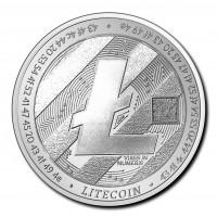 1 oz Silber Tschad 2020 Crypto Coins Litecoin ( diff.besteuert nach §25a UStG )