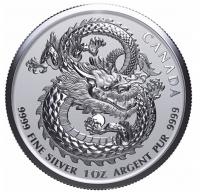 "1 oz Silber Canada "" Lucky Dragon High Relief 2019 "" ( diff.besteuert nach §25a UStG )"