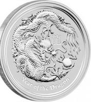 2 oz Silber Lunar II Silber Drache 2012 ( in Kapsel ) ( diff.besteuert nach §25a UStG )