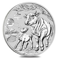 1 oz Silber Perth Mint Lunar Ochse 2021 with Dragon in Kapsel - max. Auflage 30.000 ( diff.besteuert nach §25a UStG )