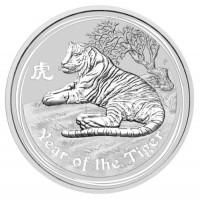 5 oz Silber Lunar Tiger 2010 in Kapsel ( diff.besteuert nach §25a UStG )