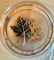"10 oz Silber Canada "" Magnificent Maple Leaf 2017 "" in Kapsel ( diff.besteuert nach §25a UStG )"