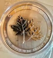 "10 oz Silber Canada "" Magnificent Maple Leaf 2017 "" in Kapsel ( diff.besteuert nach §25a UStG )"