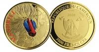 1 oz Gold Proof-colored Kamerun Mandrill Scottsdale Mint ( Auflage 100 )