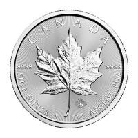 1 oz Silber Maple Leaf 2021 inklusive Sicherheitshologramm - Neuware ( diff.besteuert nach §25a UStG )