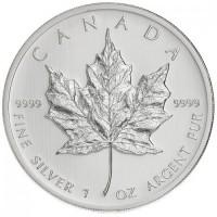 1 oz Silber Maple Leaf div. Jahre / ggf. angelaufen ( diff.besteuert nach §25a UStG )