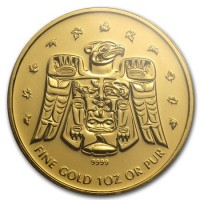 1 oz Gold Canada Royal Canadian Mint Thunderbird