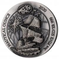 "3 oz Silber Antique Finish Ruanda 2020 "" Mayflower Durchmesser 60 mm / Reliefhöhe 6,00 mm"