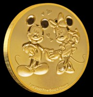 1 oz Gold New Zealand Mint Disney Mickey & Minnie - max 100 Auflage