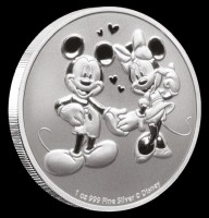 1 oz Silber New Zealand Mint Disney Mickey & Minnie - max 15.000 Auflage ( diff.besteuert nach §25a UStG )