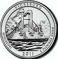 "5 oz Silber USA "" America the beautiful "" Mississippi Vicksburg National Military Park -  ( diff.besteuert nach §25a UStG )"