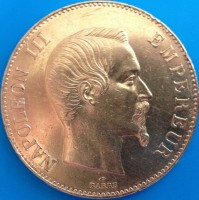 100 Francs Frankreich Napoleon ( 29,05 Gramm Gold fein )