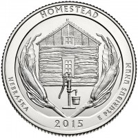 "5 oz Silber USA "" America the beautiful "" Nebraska - Homestead National Park "" ( diff.besteuert nach §25a UStG )"