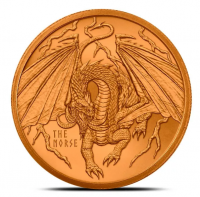 "1 oz Kupfer / Copper "" Norse Dragon "" - Serie World of Dragons ( 19% Mwst )"