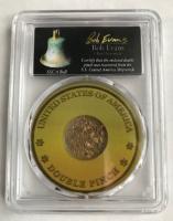 Gold Dust / Pinch ca. 1 Gramm / Feinheit ca. 0.800+ im PCGS Slab von der SS Central gesunken 1857