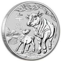 5 oz Silber Lunar Ochse / Ox III Perth Mint ( diff.besteuert nach §25a UStG )