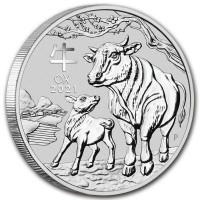 1/2 oz Silber Lunar III Ochse 2021 in Kapsel Perth Mint  ( diff.besteuert nach §25a UStG )