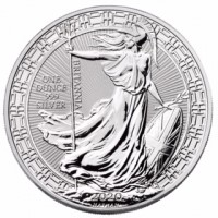 """1 oz Silber Britannia in Kapsel """" Oriental Border 2020 """" max. Mintage 50.000 ( diff.besteuert nach §25a UStG )"""