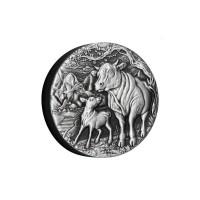 2 oz Silber Ox/ Ochse Perth Mint Antique Finish in Box + COA - max. Auflage 1,888  ( diff.besteuert nach §25a UStG )