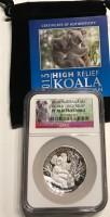 1 oz Silber High Relief Koala 2013 Perth Mint / PF70 in Slab inkl. COA und Beutel ( diff.besteuert nach §25a UStG )