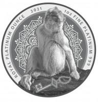 "1 oz Platin Gibraltar "" Berberaffe 2021 "" Double sealed  - max 100 Mintage ( inkl. gesetzl. Mwst )"
