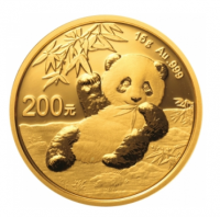 15 Gramm Gold Panda 2020 in Folie - 200 Yuan