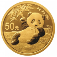 3 Gramm Gold Panda 2020 in Folie - 50 Yuan