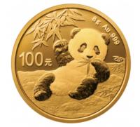 8 Gramm Gold Panda 2020 in Folie - 100 Yuan