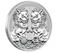 "1 oz Silber Australien Perth Mint "" Guardian Lion / Double Pixiu "" in Kapsel 2020 - max. 50.000 Stk ( diff.besteuert nach §25a UStG )"