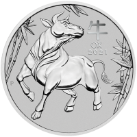 1 oz Platin Perth Mint Lunar Ochse 2021 - max 5.000 ( diff.besteuert nach §25a UStG )
