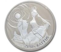 1 oz Silber Südkorea 2020 Rattus - max 22.000