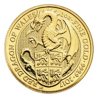 "1/4 oz Gold Royal Mint / United Kingdom "" Red Dragon of Wales """