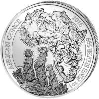 """1 oz Silber Ruanda """" Erdmännchen  """"  ( diff.besteuert nach §25a UStG )"""