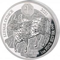 "1 oz Silber Proof Ruanda 2021 "" Lunar Ochse / Ox "" inkl. COA - Auflage 1.000 ( inkl. gültiger gesetzl. Mwst )"