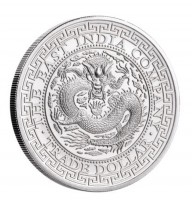 """1 oz Silber """" Chinese Trade Dollar """" St. Helena geprägt bei East India Company - max 5.000 ( diff.besteuert nach §25a UStG )"""