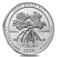 """5 oz Silber USA """" America the beautiful """" Virgin Islands Salt River ( diff.besteuert nach §25a UStG )"""