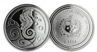 """1 oz Silber Prooflike Samoa 2019  """" Seahorse / Seepferdchen """" zweite Ausgabe in Kapsel - max. Mintage 20.000 ( diff.besteuert nach §25a UStG )"""