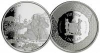 "1 oz Silber Fiji "" Samurai "" Scottsdale Mint / in Kapsel - max 15.000 ( diff.besteuert nach §25a UStG )"