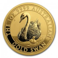 """1 oz Gold Perth Mint """" Schwan 2018 """" in Kapsel"""