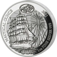 1 oz Silber Ruanda 2021 Sedov Proof incl COA