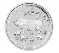2 oz Silber Lunar II Schwein 2019 in Kapsel Perth Mint  ( diff.besteuert nach §25a UStG )