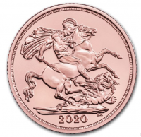 2020 Sovereign 1 Pfund GB ( 7,32 Gramm Gold fein )