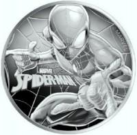 """100X  1 oz Silber Perth Mint SPIDERMAN """" Marvel Comics """" in Kapsel ( diff.besteuert nach §25a UStG )"""