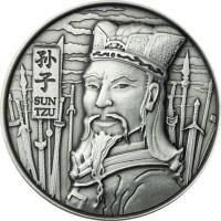 """2 oz Silber Ultra High Relief """" The Art Of War Sun Tzu  """" ( inkl. gültiger gesetzl. Mwst )"""