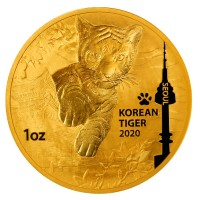 1 oz Gold Korea Tiger 2020 - max. 1000 Stk